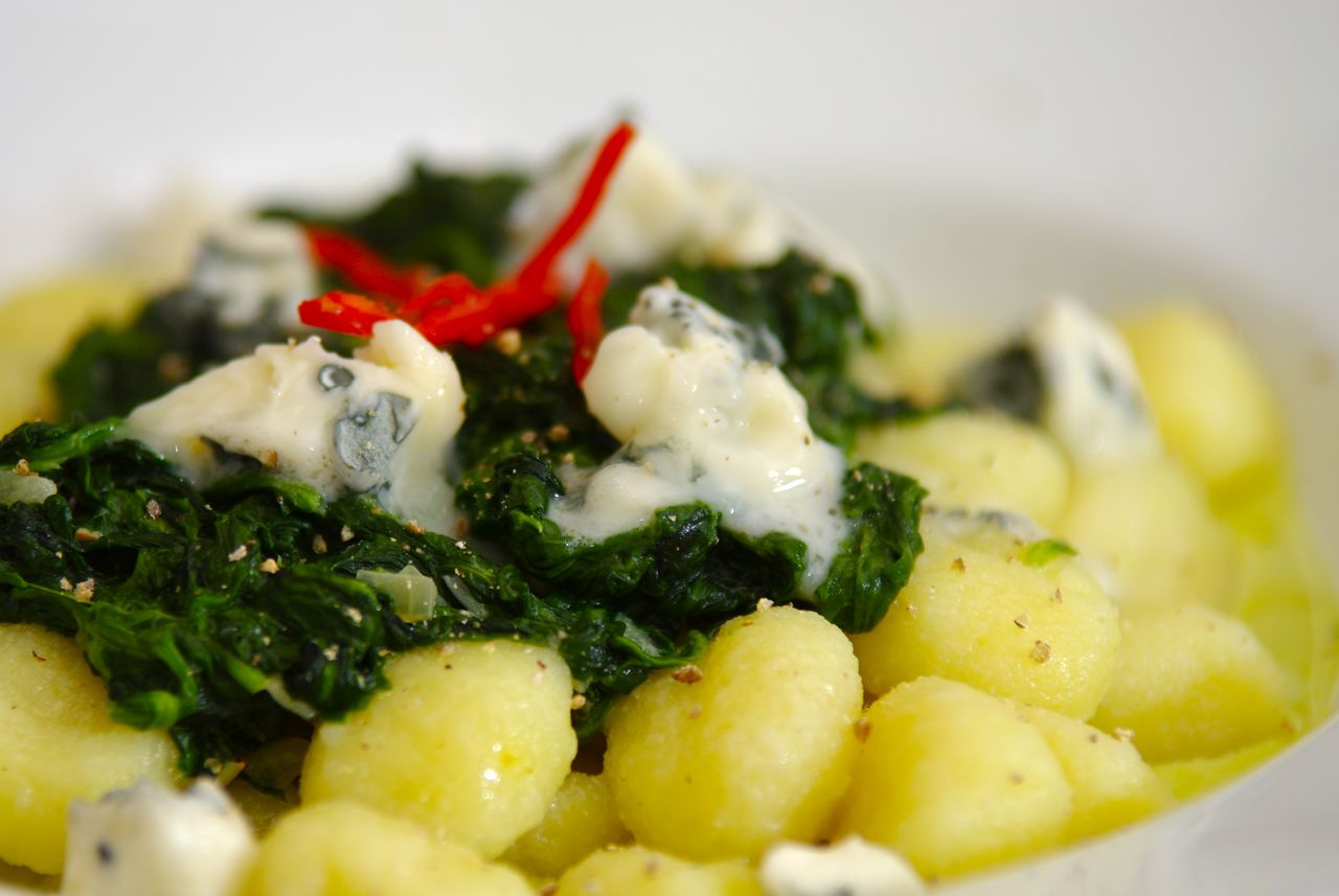 Gnocchi In A Gorgonzola Sauce Topped With Fried Mushrooms Recipes ...